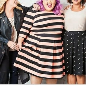 Ashley Nell Tipton Skirts - Ashley Nell Tipton striped blouse with skirt